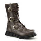 STEAM-12 Demonia Brown Steampunk Boots