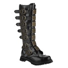 STEAM-30 Demonia Black Steampunk Boots