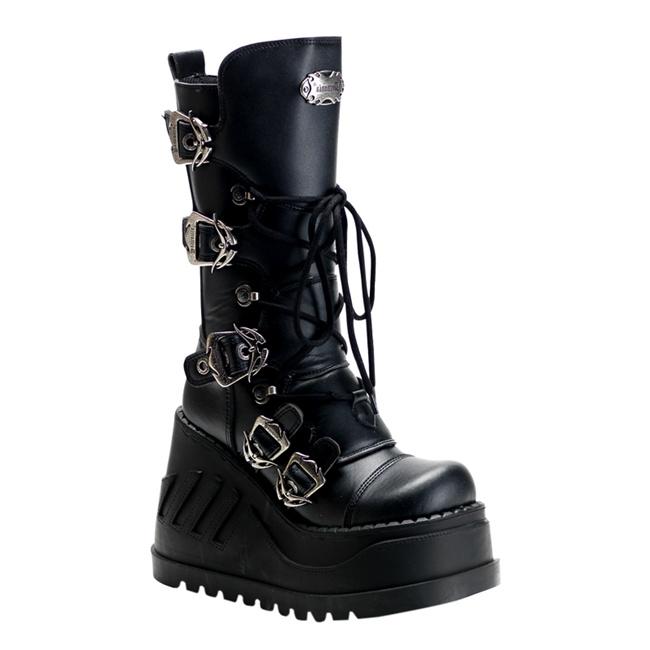 Demonia Stomp 101 Wedge Gothic Platform Boots Demonia