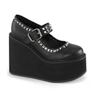 SWING-03 Studded Wedge Mary Jane Shoes