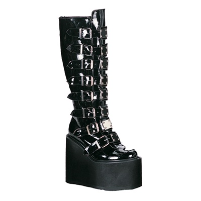 SWING-815 Knee High Buckle Boots