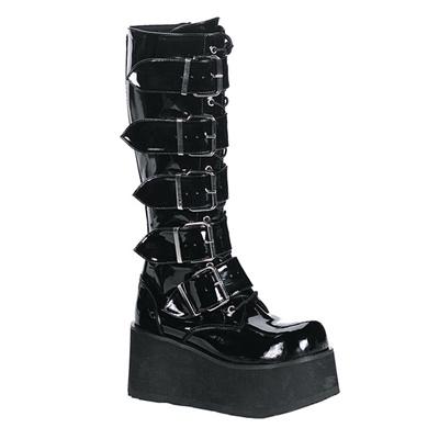TRASHVILLE-518 Platform Knee Boots
