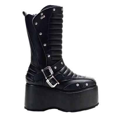 WICKED-701 Demonia Black Platform Boots