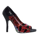 ZOMBIE-10 Psychobilly Print Open Toe Pumps