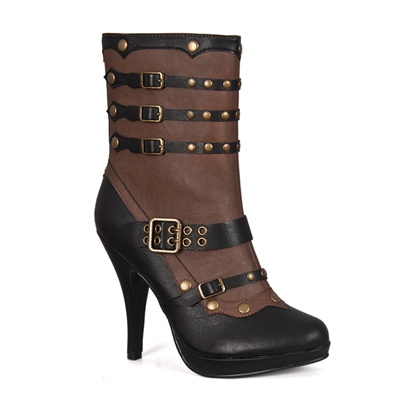 Two-tone Victorian Steampunk Boots
