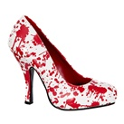 BLOODY-12 Blood Splatter Zombie Pumps