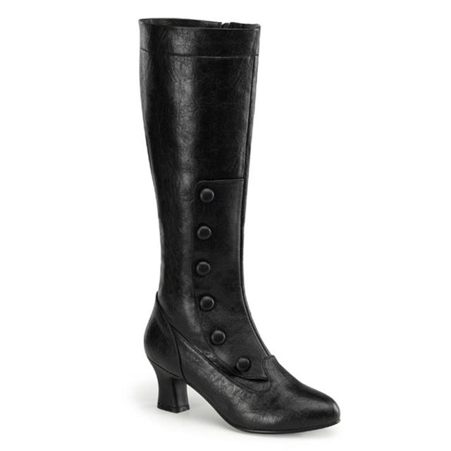 pleaser classic 233 knee high steunk button boots