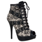 Iron Fist LOVELACE Skull Butterfly Bootie