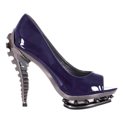Hades Metropolis Shoes Purple Steampunk RIPLEY Pump