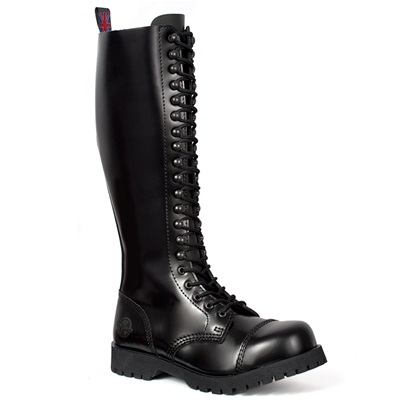 20-eye Leather Combat Boots by Nevermind