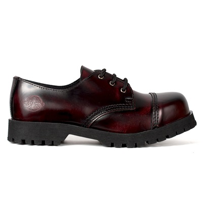 3-Eye Burgundy Leather Shoes by Nevermind