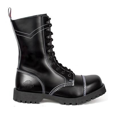 10-Eye CHEVRON Combat Boots by Nevermind