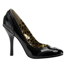 LOVELY-12 Round Toe Spectator Pump