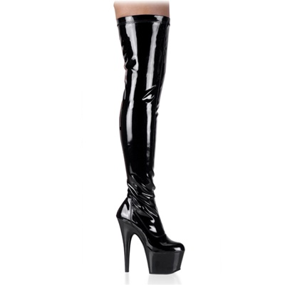 ADORE-3000 Black Thigh High Boots