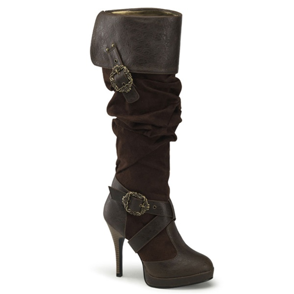 Pleaser Carribean 216 Steampunk Buckle Boots Funtasma By