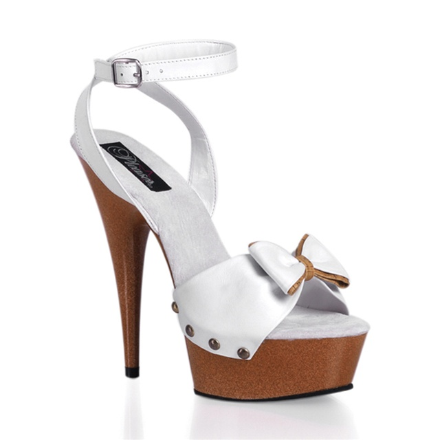 pleaser delight 642 leather platform sandals pleaser shoes