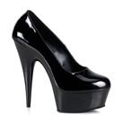 DELIGHT-685 Black Platform Pumps
