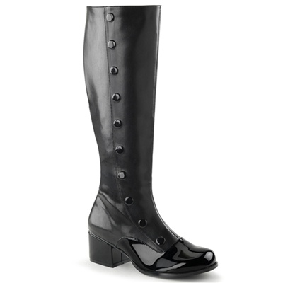 RETRO-306 Knee High Button Boots