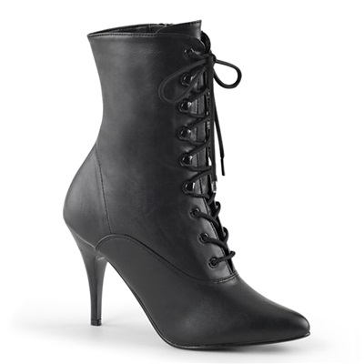 VANITY-1020 Black Lace-up Ankle Boots