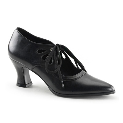 VICTORIAN-03 Kitten Heel Pumps