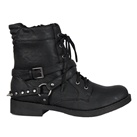 SPIKED Strap Womens Combat Boots