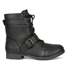 Womens 1-Strap Combat Boots