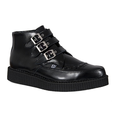 TUK 3-Buckle Pointed Toe Creeper Boots
