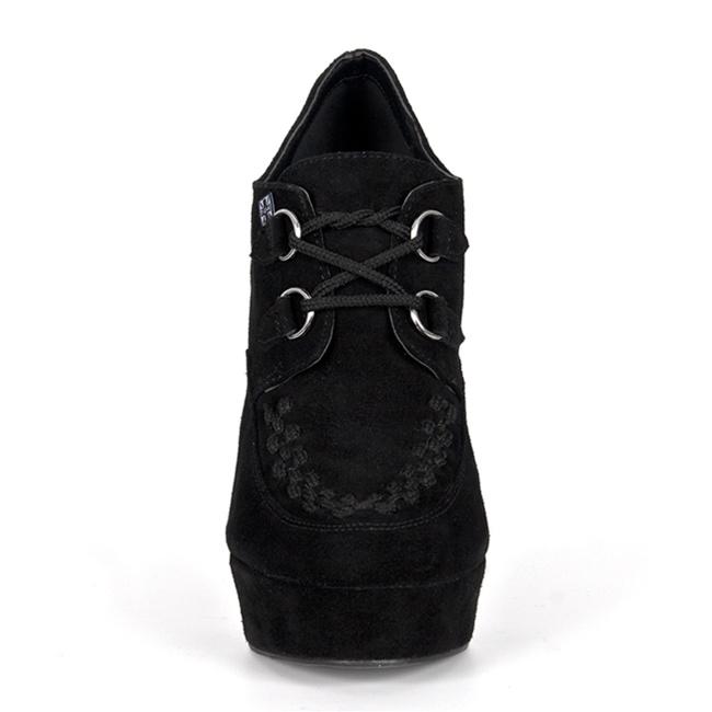 black suede creeper heels tuk shoes sinistersolescom