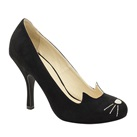 TUK Black Sophisticated Kitty Heels