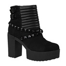 TUK Studded Black Suede Yuni Boots