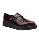 TUK Pointed Burgundy Leather Creeper Shoes