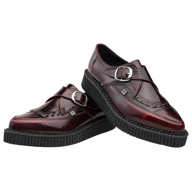 tuk pointed burgundy leather creeper shoes tuk shoes