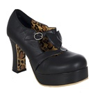 Black Heart Platform Mary Jane Shoes