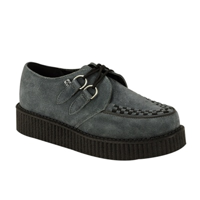 TUK Gray Suede Low Sole Creeper Shoes