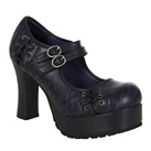 Purple Lace Platform Mary Jane Shoes