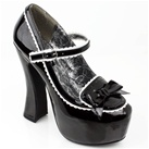 Bow Front Platform Mary Jane Shoes