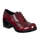 Burgundy Leather Lace-up Oxford Shoes
