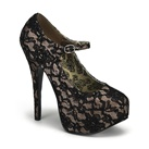 TEEZE-07 Lace Platform Pumps