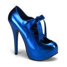 TEEZE-09 Metallic Blue Platform Pumps