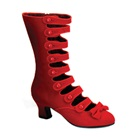 WHIMSEY-115 Victorian Red Velvet  Boots