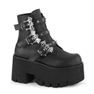 ASHES-55 Bat Buckle Platform Boots