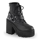 ASSAULT-101 Studded Platform Ankle Boots