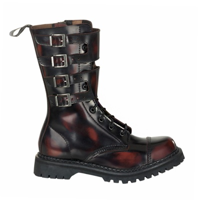 ATTACK-10 Demonia Leather Combat Boots