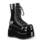 Demonia BEAR-265 Black Wedge Platform Boots