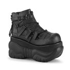 BOXER-13 Demonia Black Platform Sneaker Shoes
