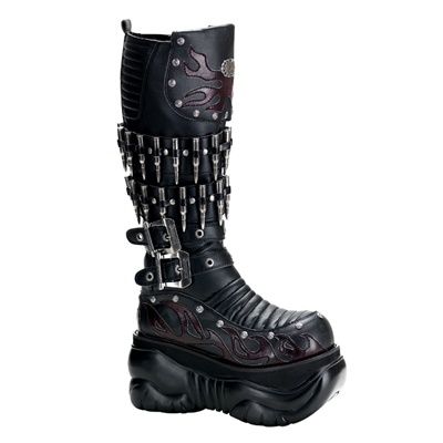 Demonia Boxer 201 Mens Gothic Cyber Bullet Boots Demonia