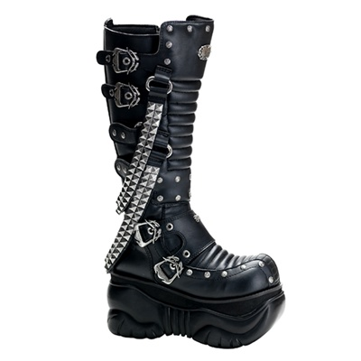 Demonia Boxer 206 Mens Cyber Gothic Platform Boots