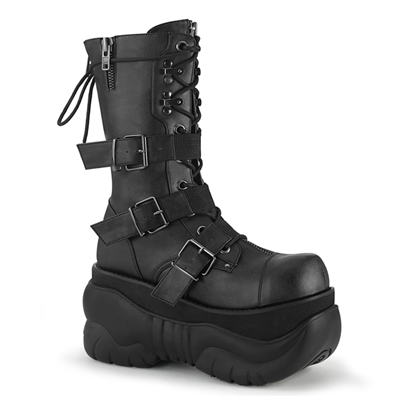 BOXER-230 Buckled Demonia Mens Cyber Goth Platform Boots