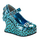 BRAVO-10 Cheetah Print Mary Jane Shoes