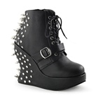 BRAVO-23 Studded Wedge Ankle Boot